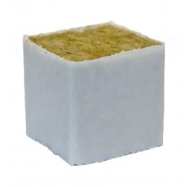 Taco de lana de roca con forro 4 x 4 x 4 cm de Cultilène
