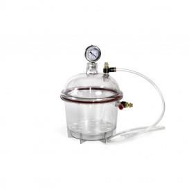 Desecador para vacío policarbonato transparente 150 mm