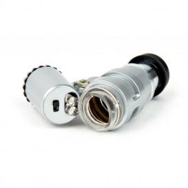 Microscopio mini con luz LED 60x