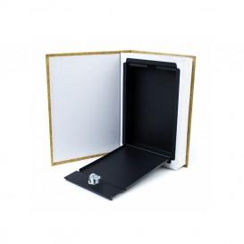 Caja libro de ocultación simple M papel