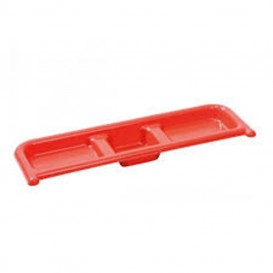 Bandeja superior roja Tidy tray