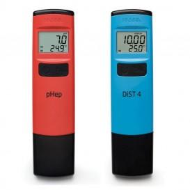 Kit de medidores de pH y EC Hanna HI98107 y HI98304