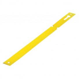 Etiqueta flexible para atar en tronco amarilla 1