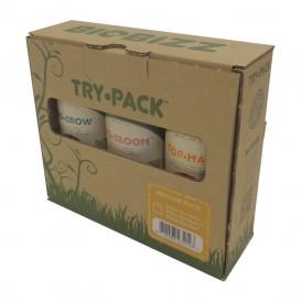 Pack de fertilizantes orgánicos Trypack Indoor de Biobizz
