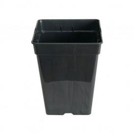 Maceta cuadrada negra 15 x 15 x 20 cm - 3 L