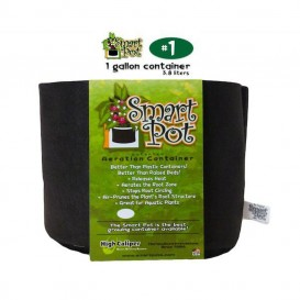 Maceta de tela textil Smart Pot negra 3