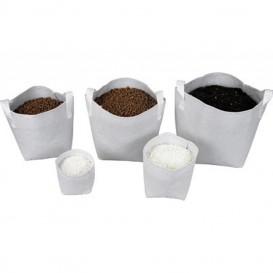 Maceta de tela Tex Pot blanca 1 L 1 u.