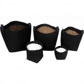 Maceta de tela Tex Pot negra 1 L 1 u.