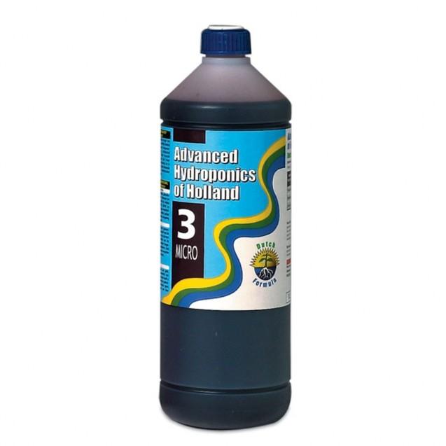 Dutch Formula Micro 3 500 ml de Advanced Hydroponics Fertilizante de hidroponía
